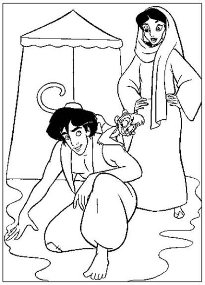 Coloriage Jasmine mendiante