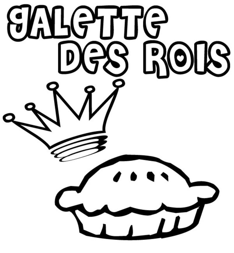 Coloriage la galette des rois