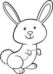 Coloriage lapin mignon