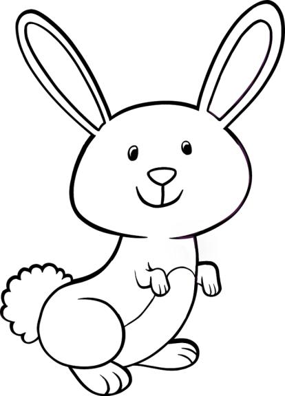 Coloriage lapin mignon imprimer - Dessin oreille de lapin ...