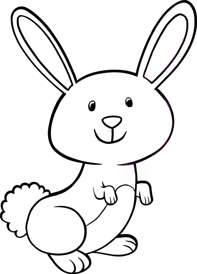 Coloriage lapin mignon imprimer - Lapin en dessin ...