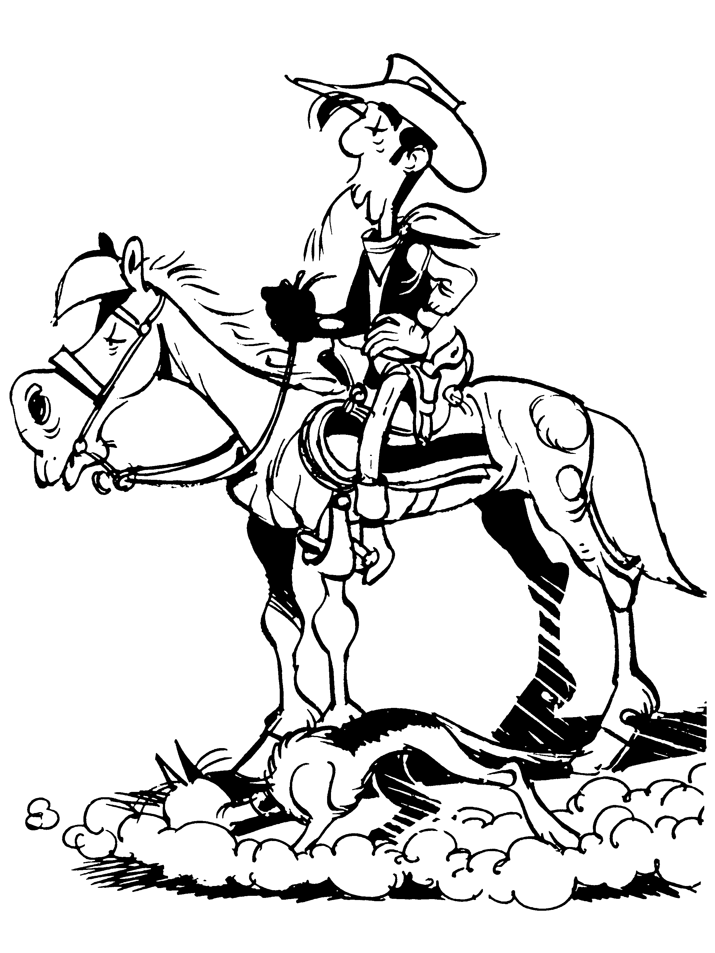 Coloriage Lucky Luke Jolly Jumper