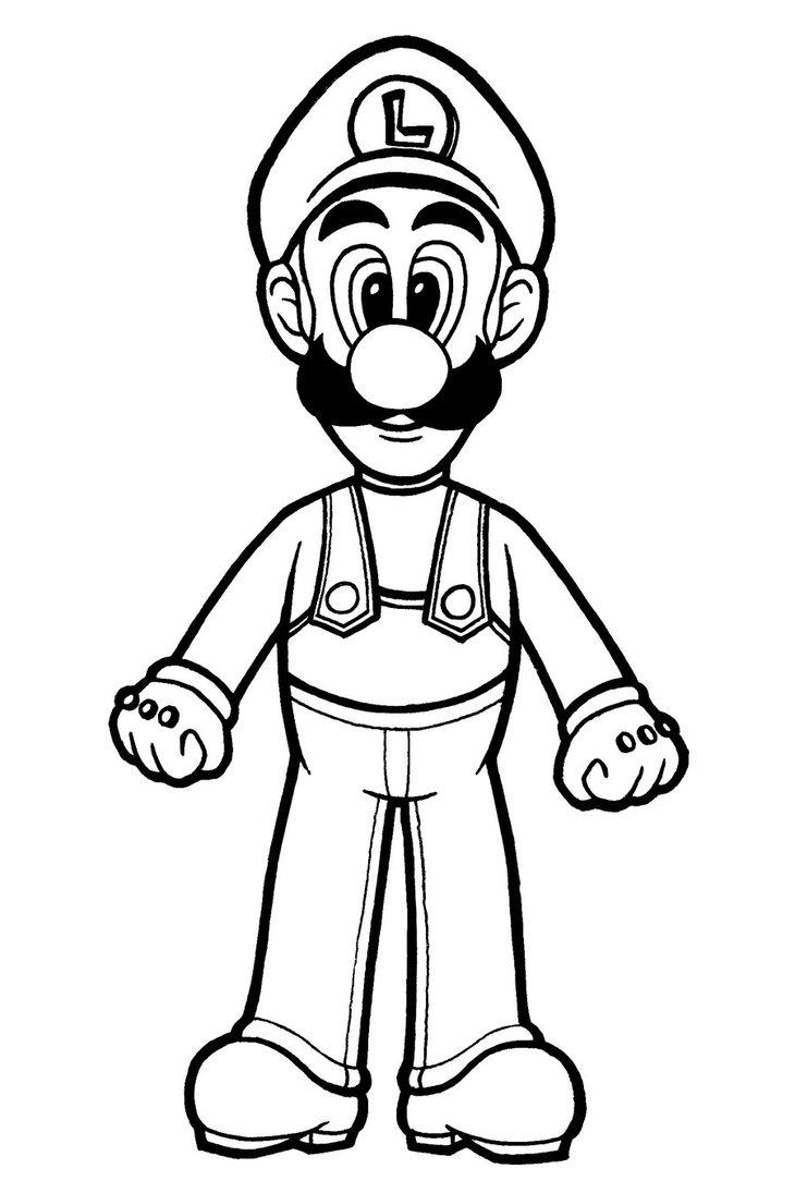 Coloriage Luigi