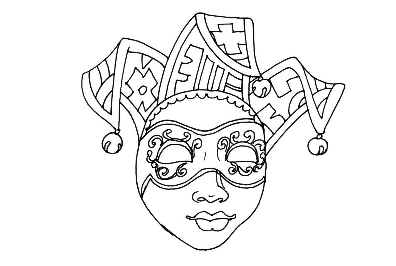 Coloriage masque de carnaval venise imprimer - Coloriage masque ...
