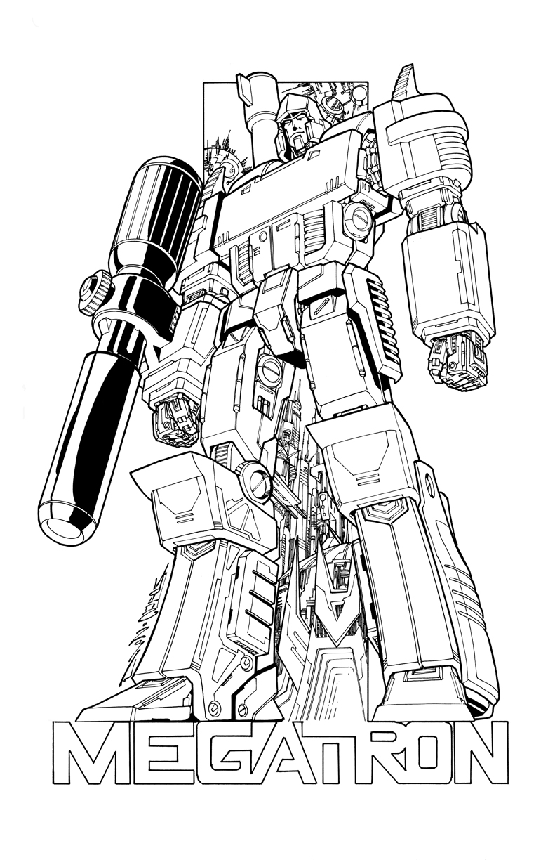 coloriage megatron transformers imprimer. Black Bedroom Furniture Sets. Home Design Ideas