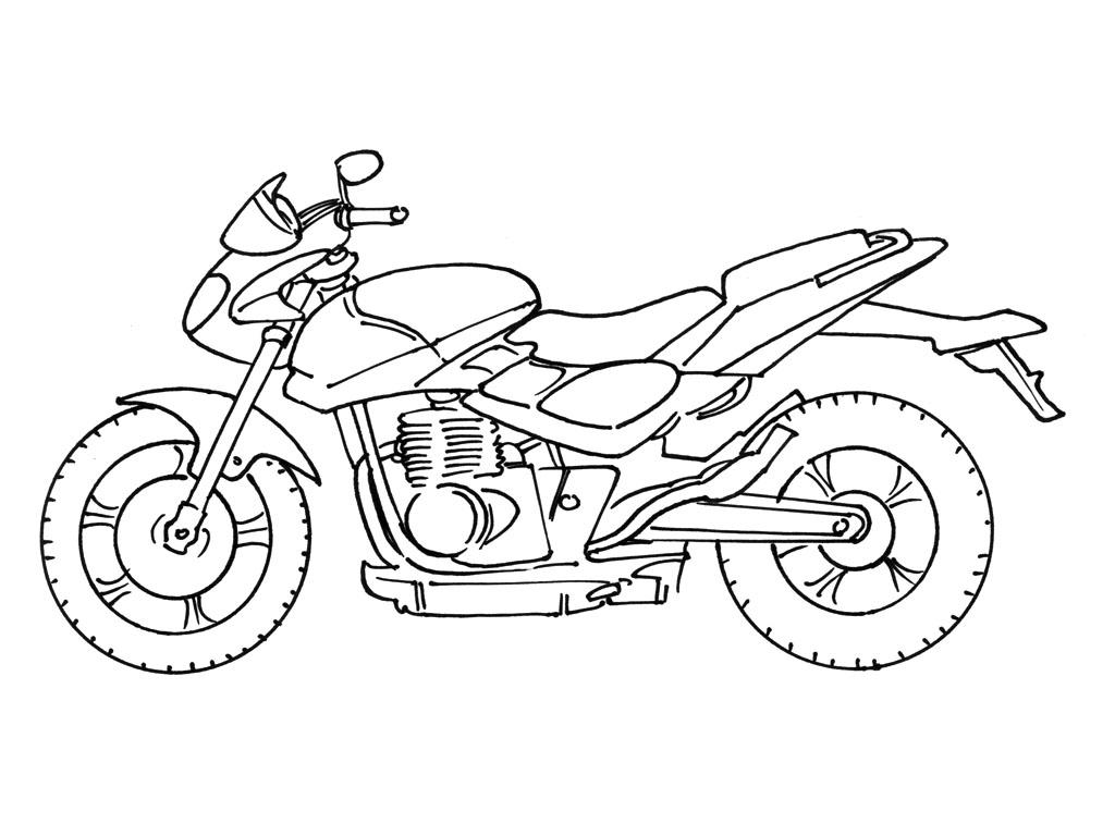 Coloriage moto imprimer - Dessin de transport ...
