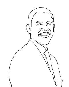 Coloriage Obama