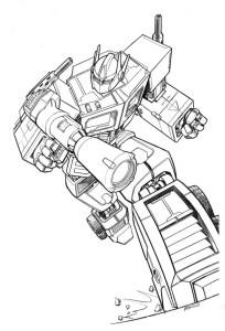 Coloriage Optimus Prime Transformers