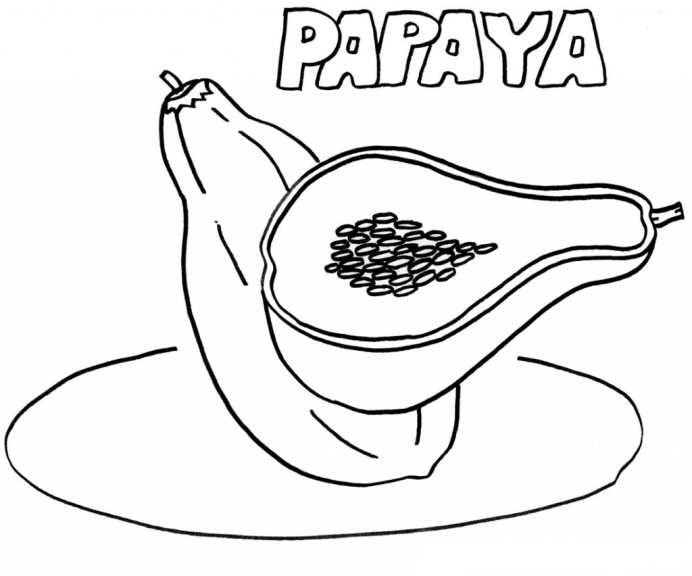 Coloriage papaye