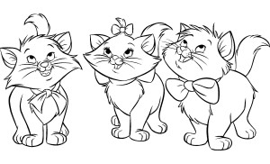 Coloriage petit aristochats