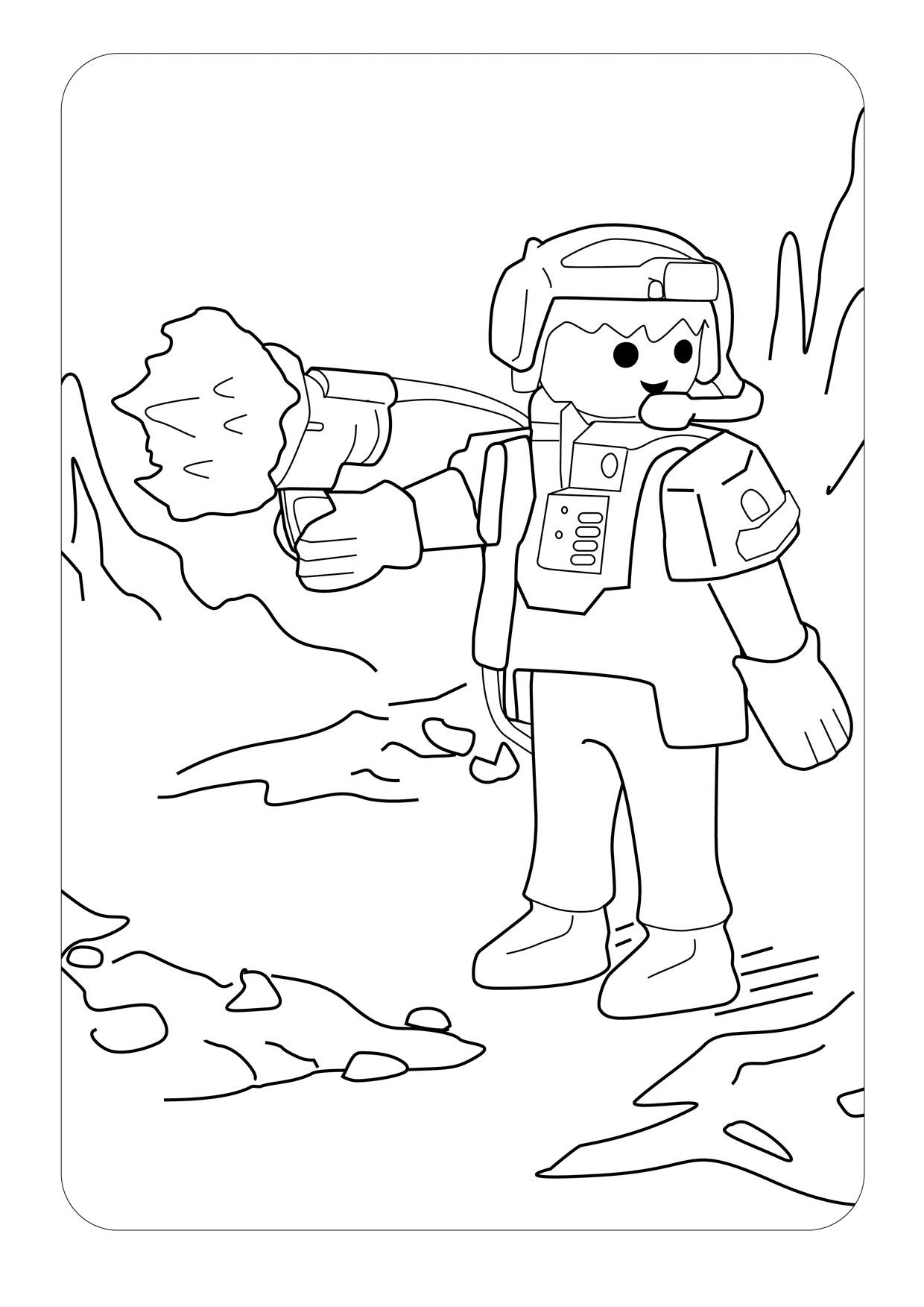Coloriage Playmobil Dans L Espace à Imprimer