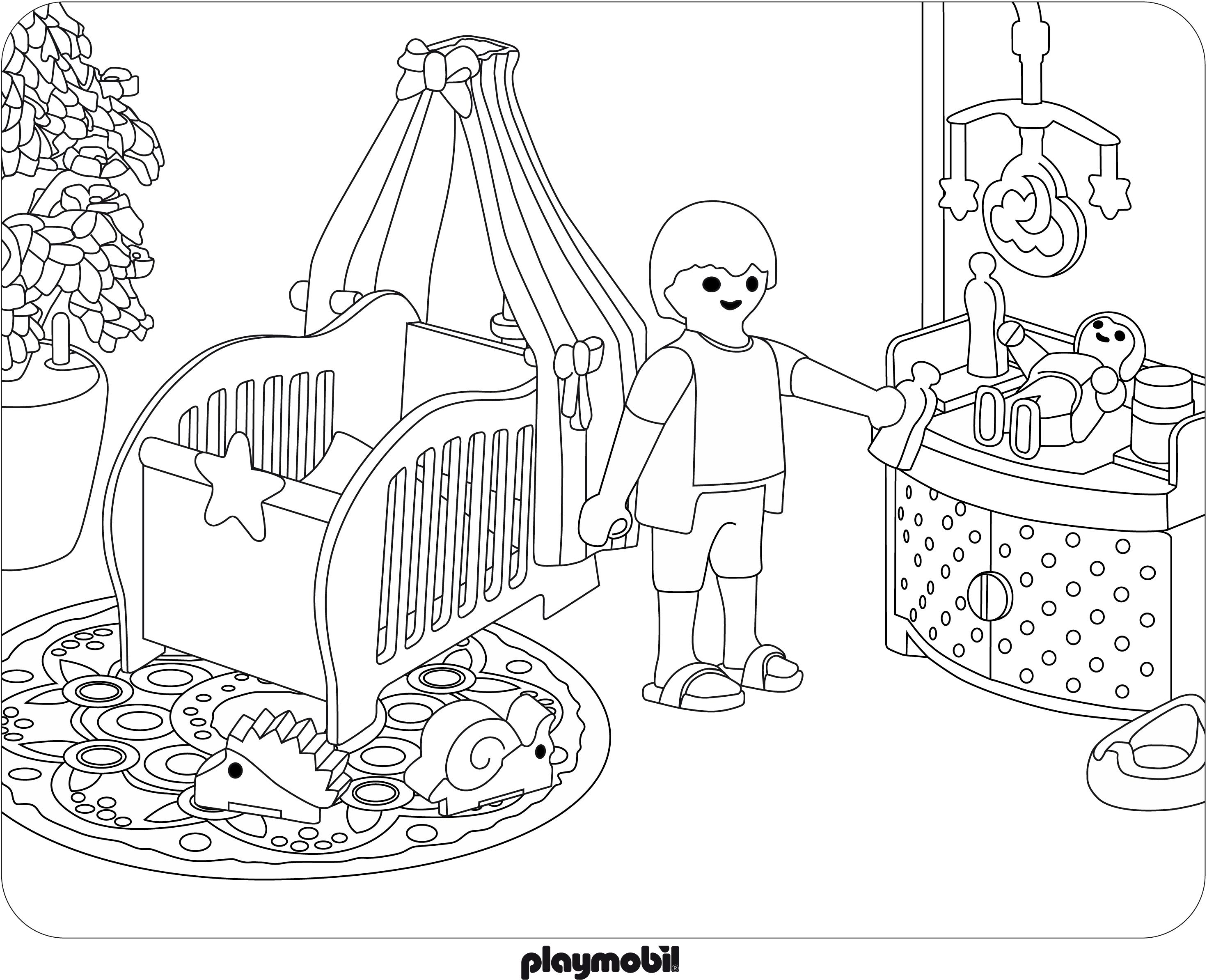 Coloriage Playmobil Jouet A Imprimer