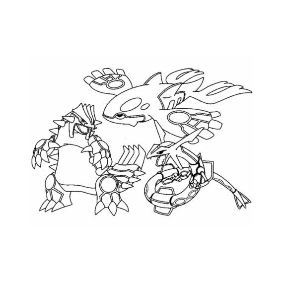 Coloriage pokemon l gendaire et rare imprimer - Pokemon saphir pokemon legendaire ...