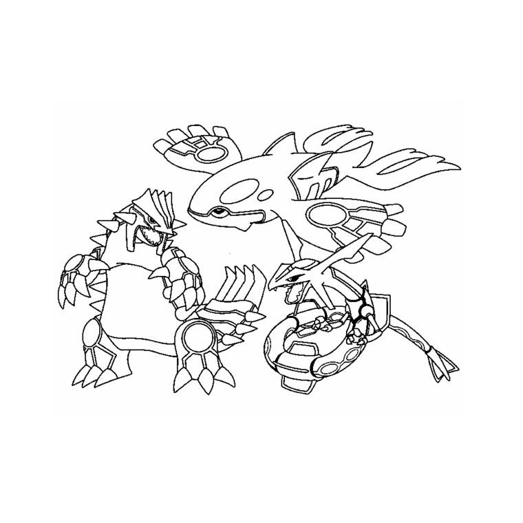 coloriage pokemon legendaire et rare