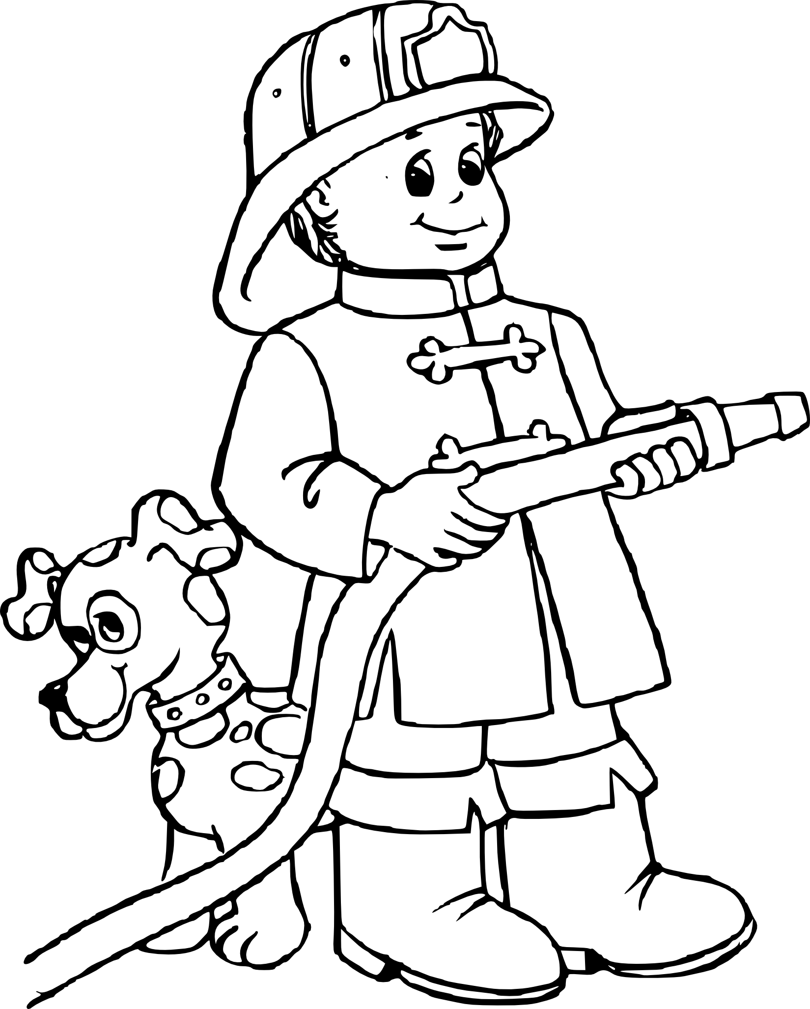 Coloriage pompier gratuit imprimer - Dessin de colombe a imprimer ...
