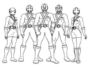 Coloriage Power Rangers