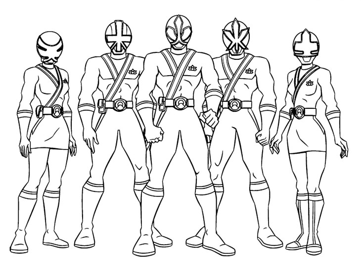 coloriage power rangers  u00e0 imprimer