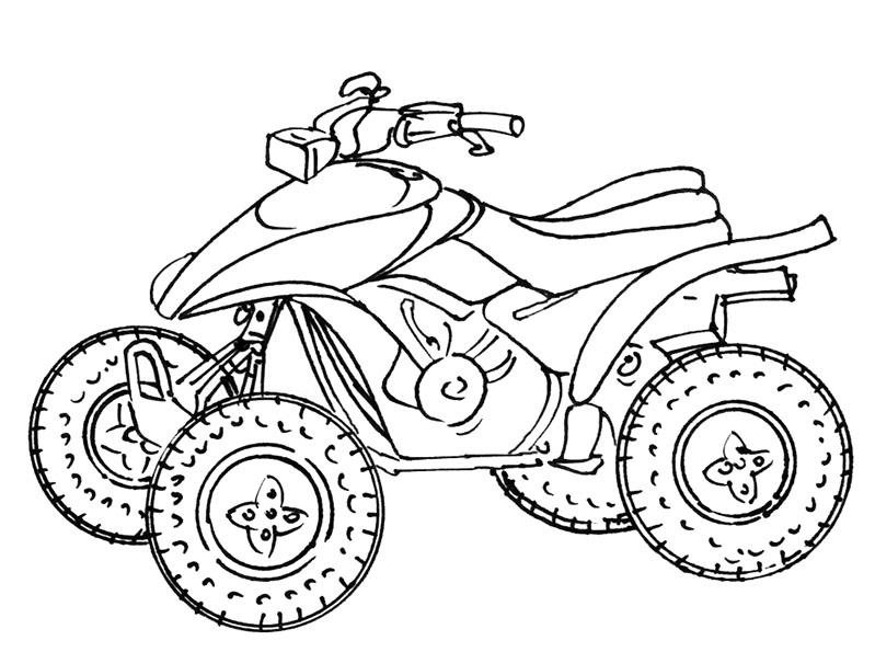 Coloriage quad imprimer - Dessins de moto a colorier et imprimer ...