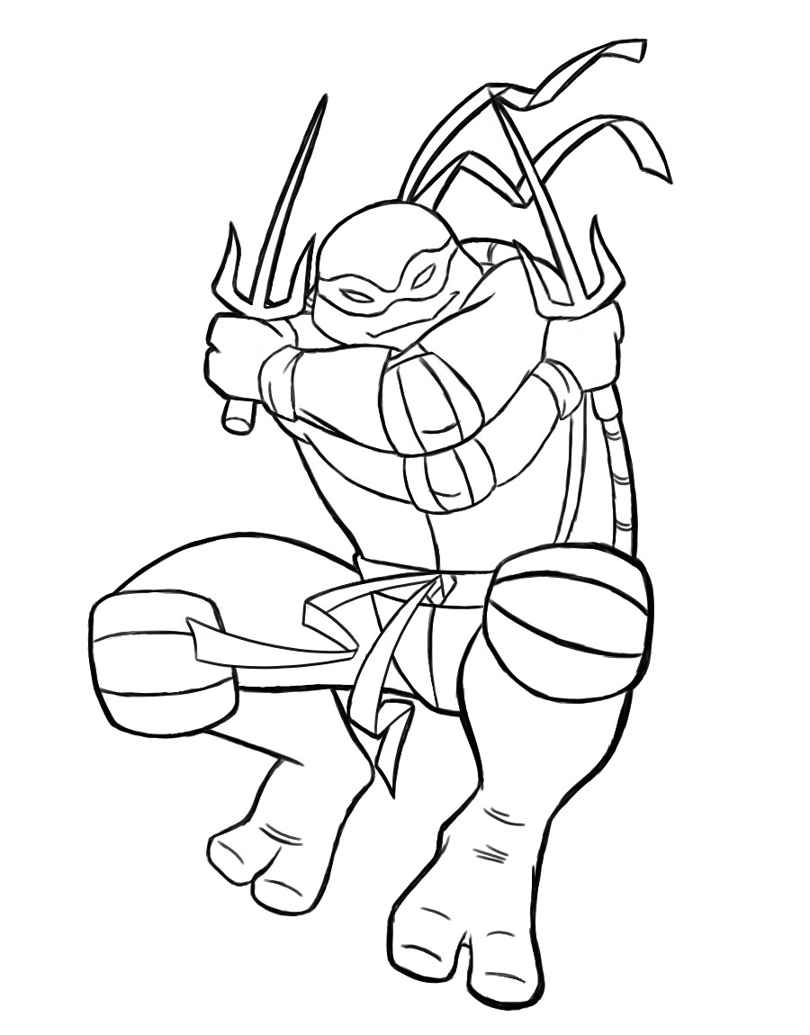 Coloriage Raphael Tortue