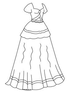 Coloriage robe de princesse