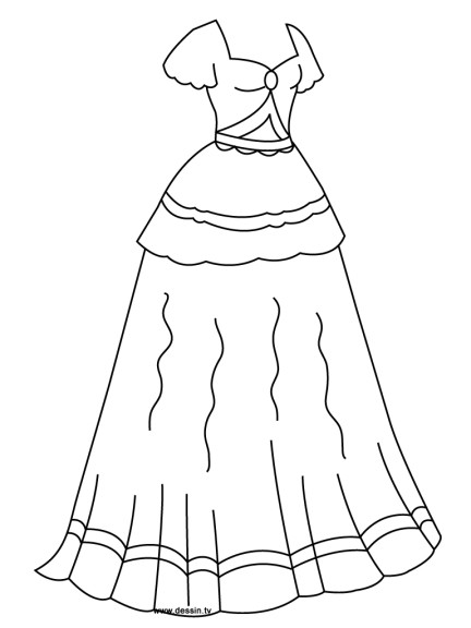 Coloriage robe de princesse