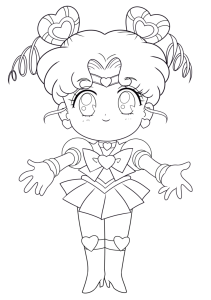 Coloriage Sailor Chibi Moon