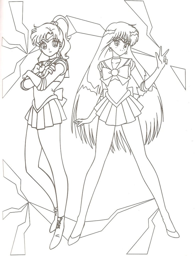 Coloriage Sailor Mars Jupiter