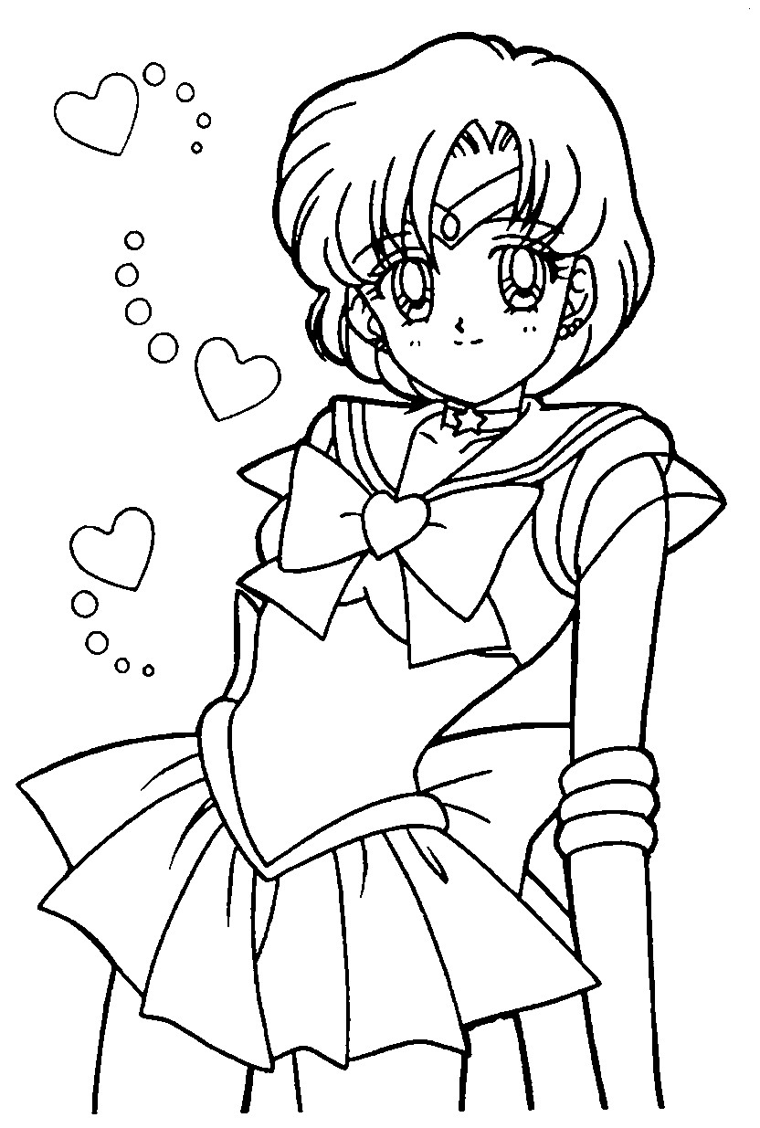 Coloriage Sailor Mercury
