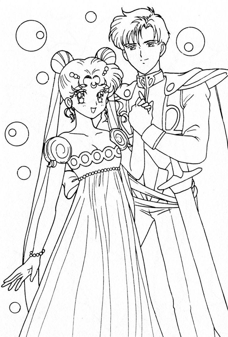 Coloriage Sailor Moon princesse
