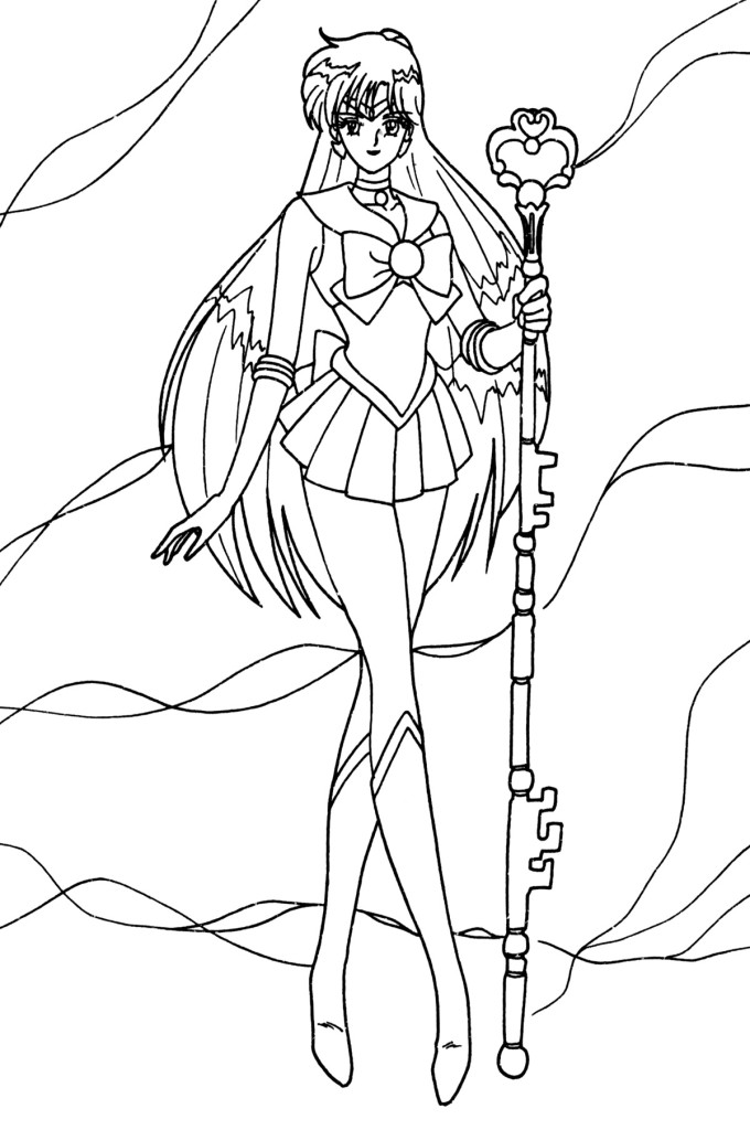Coloriage Sailor Pluto