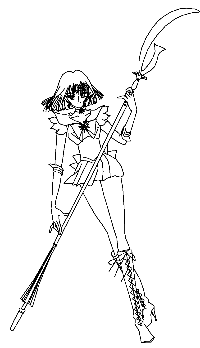 Coloriage Sailor Saturn