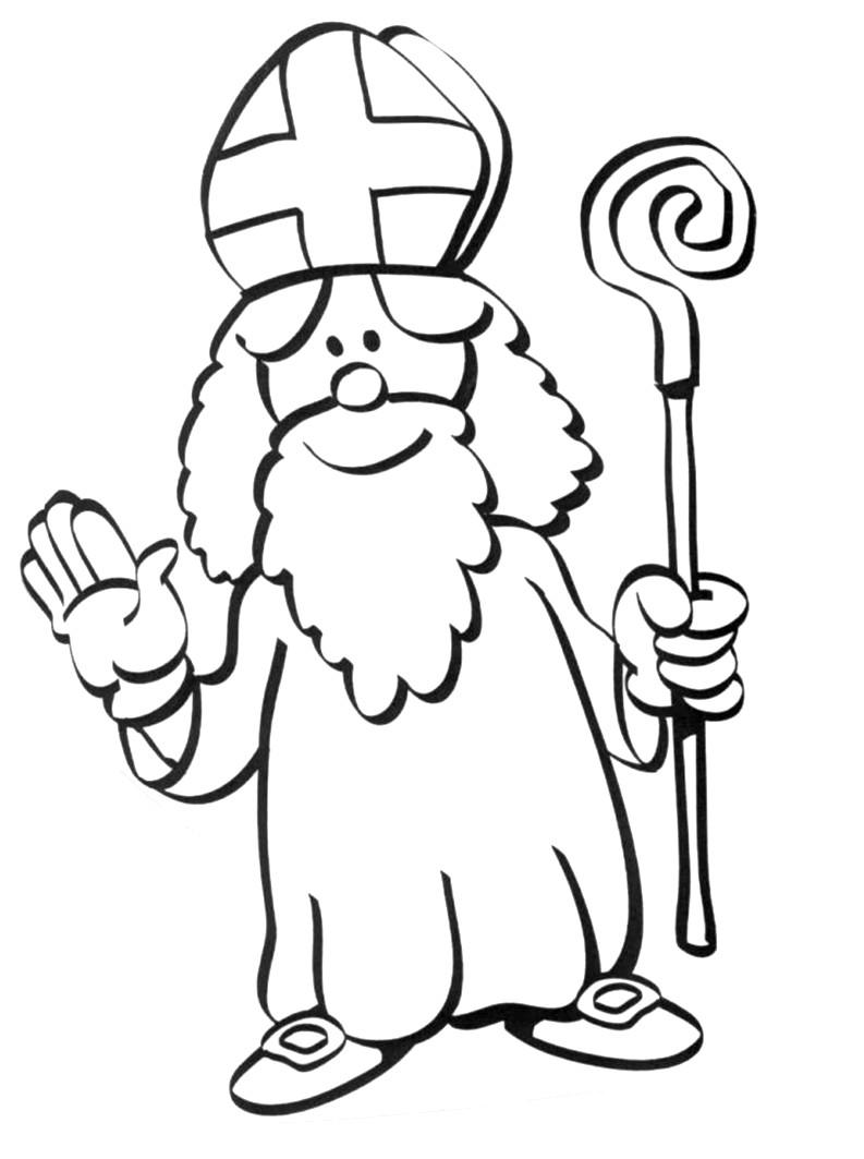 Coloriage saint nicolas imprimer - Saint nicolas dessin couleur ...