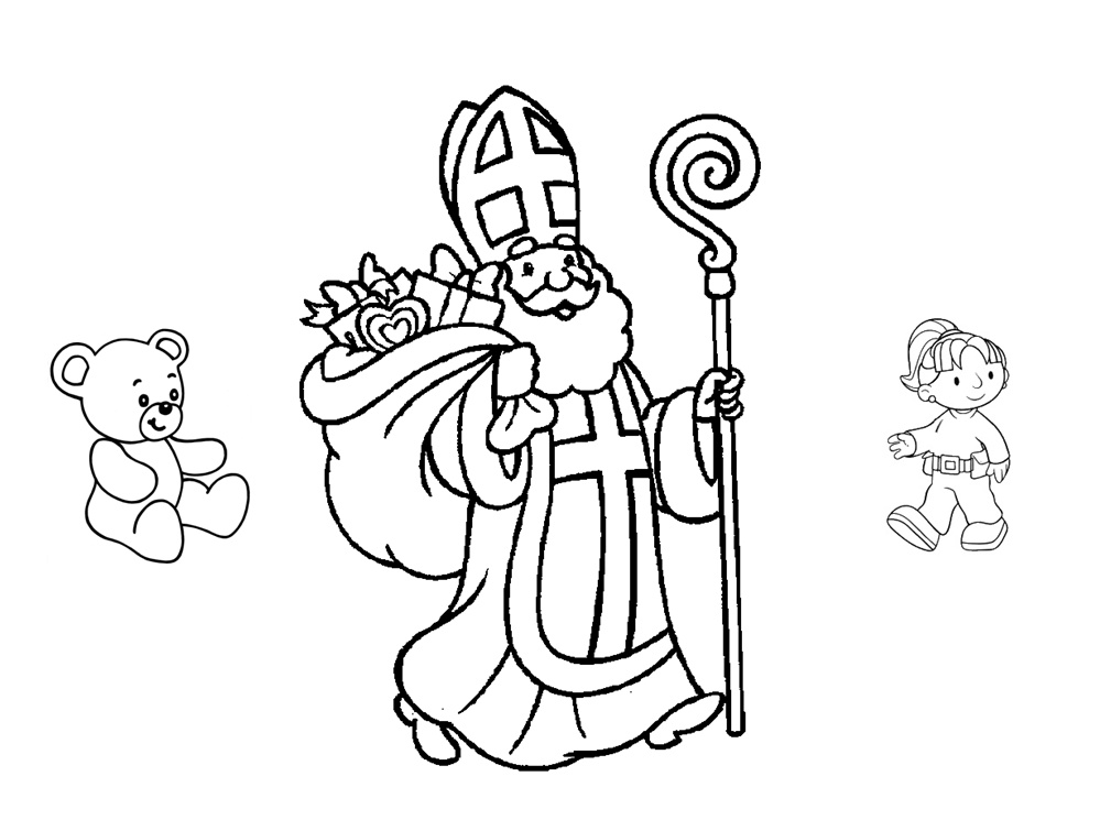 Coloriage Saint-Nicolas facile