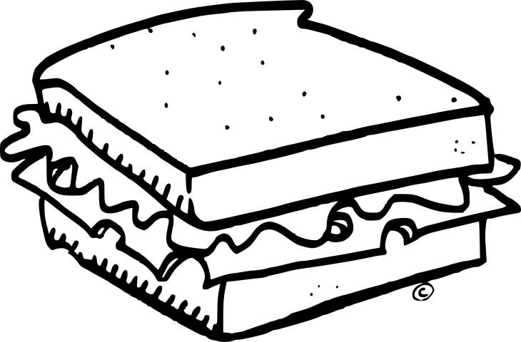 Coloriage Sandwich 224 Imprimer