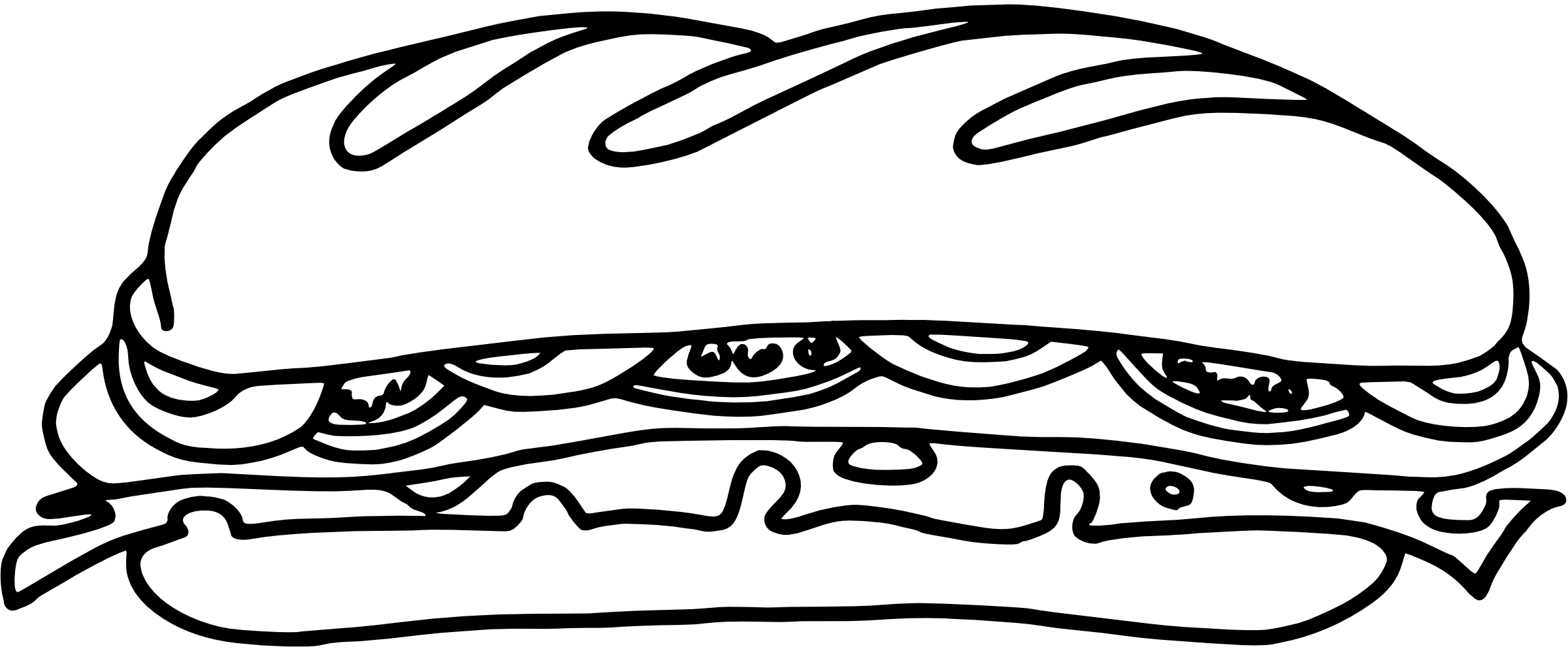 Coloriage sandwich pain