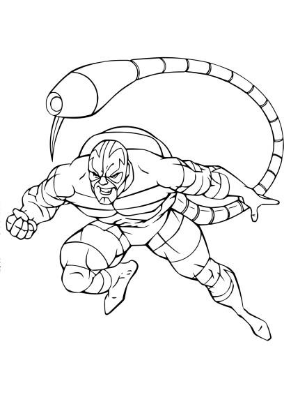 Coloriage Scorpion Spider Man