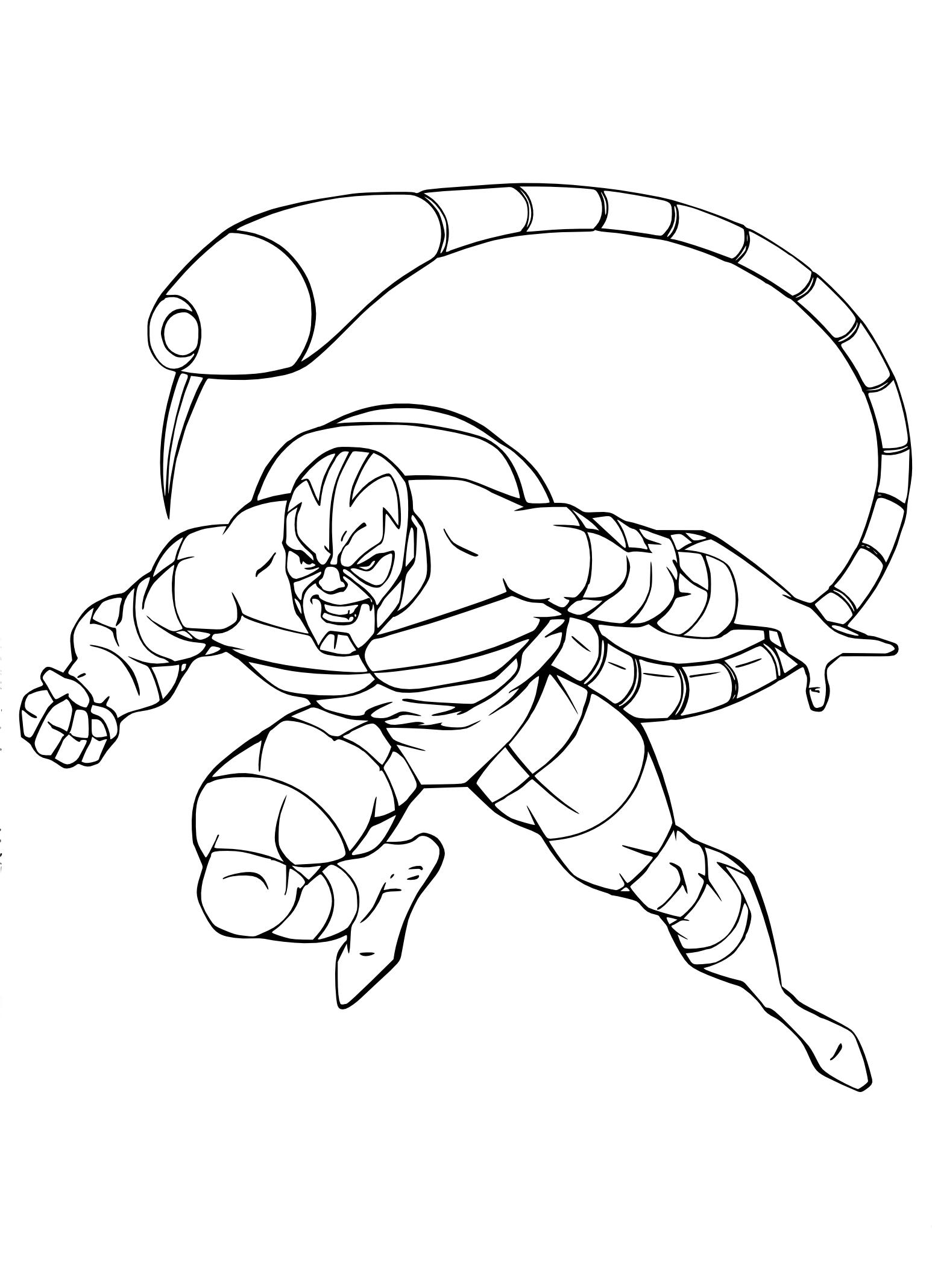 Coloriage Scorpion Spider Man à imprimer