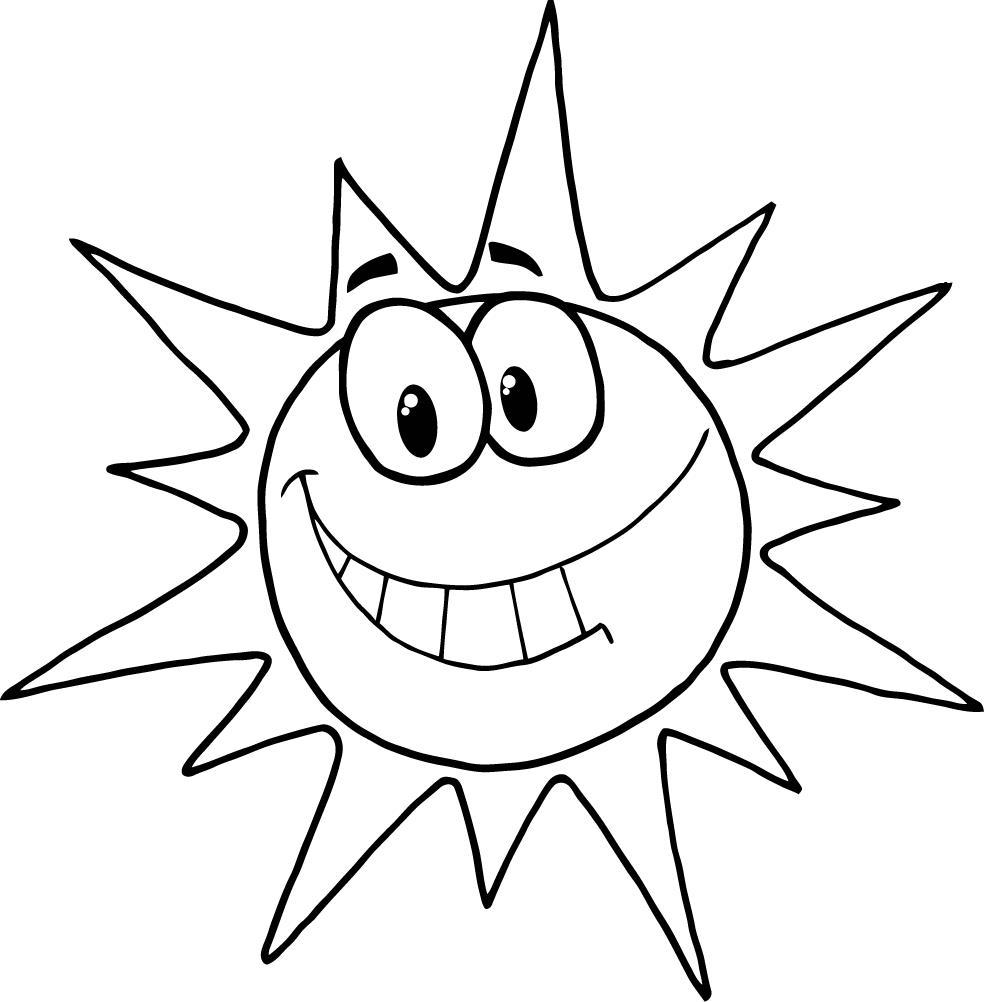 Coloriage soleil sourire à imprimer
