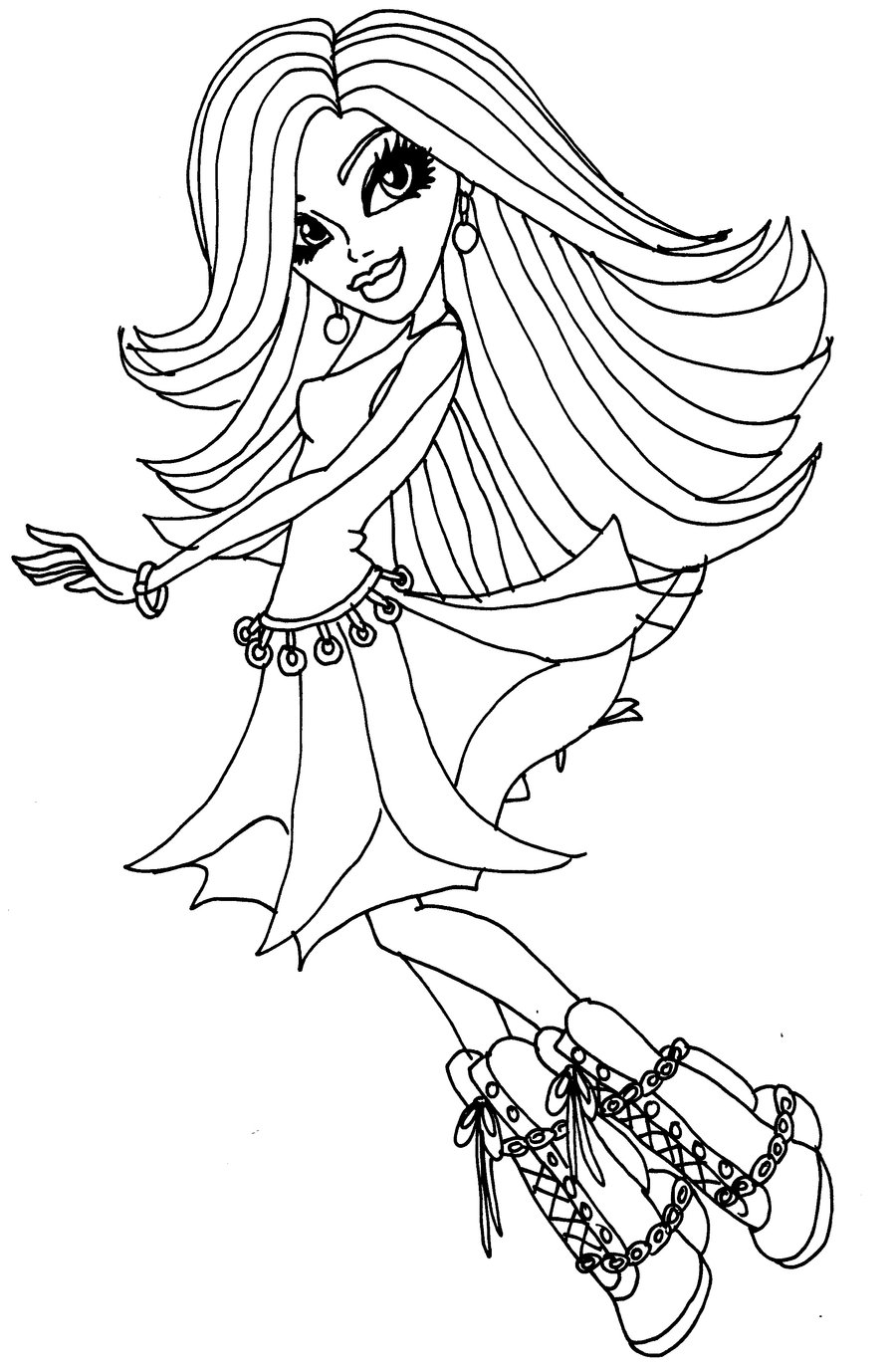 monster high halloween coloring pages - coloriage monster high spectra vondergeist imprimer