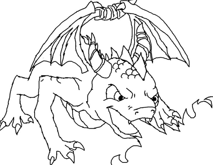 Coloriage Spyro dragon