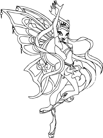 coloriage stella enchantix winx