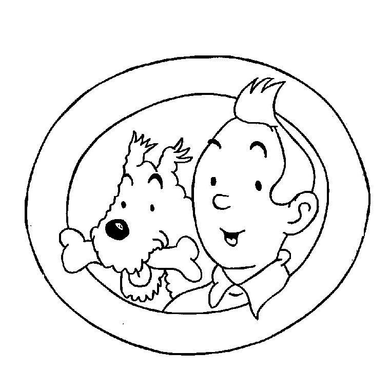 Coloriage Tintin Milou