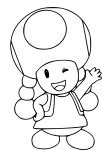 Coloriage toadette