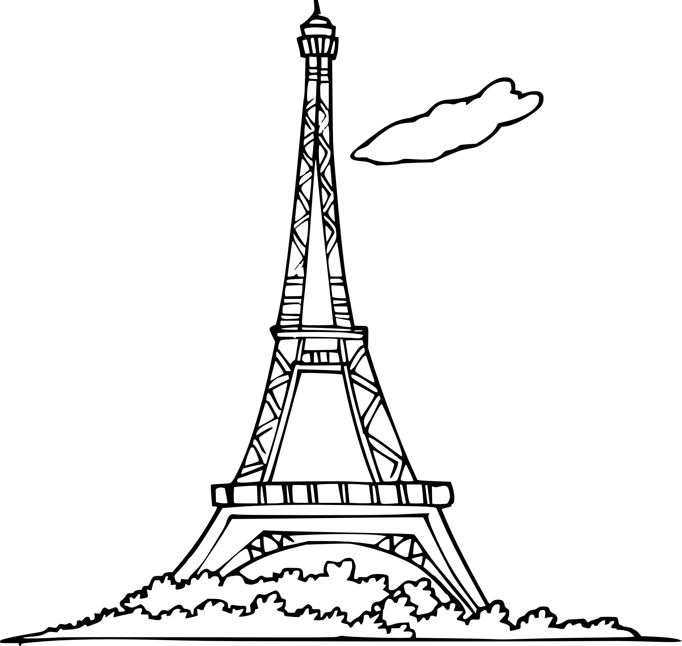 Coloriage A Imprimer Tour Eiffel.Coloriage Tour Eiffel A Imprimer