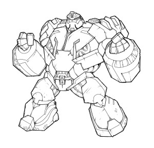 Coloriage Transformers Iron Hide