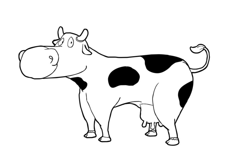 Coloriage vache marrante