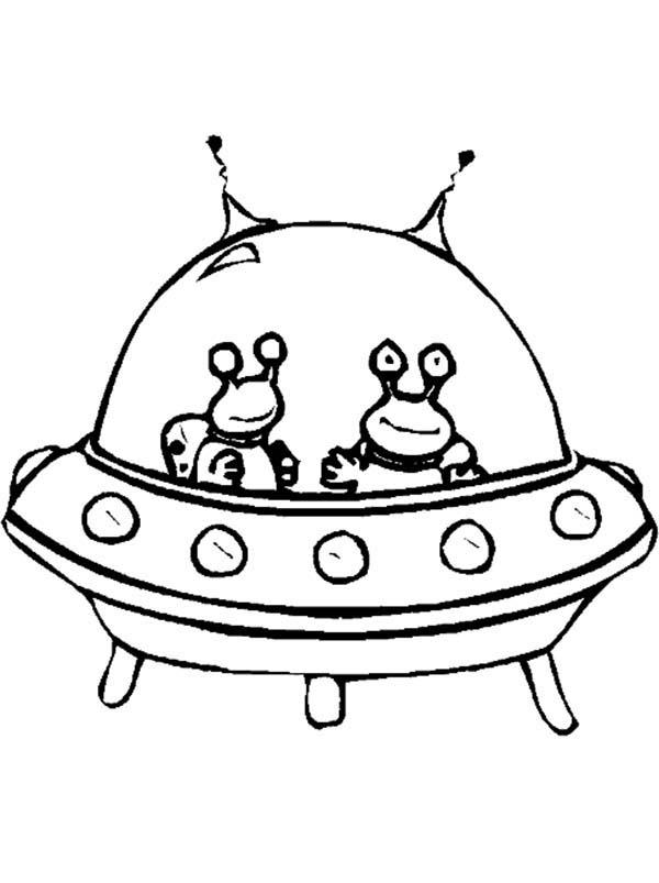 Coloriage Vaisseau Alien A Imprimer