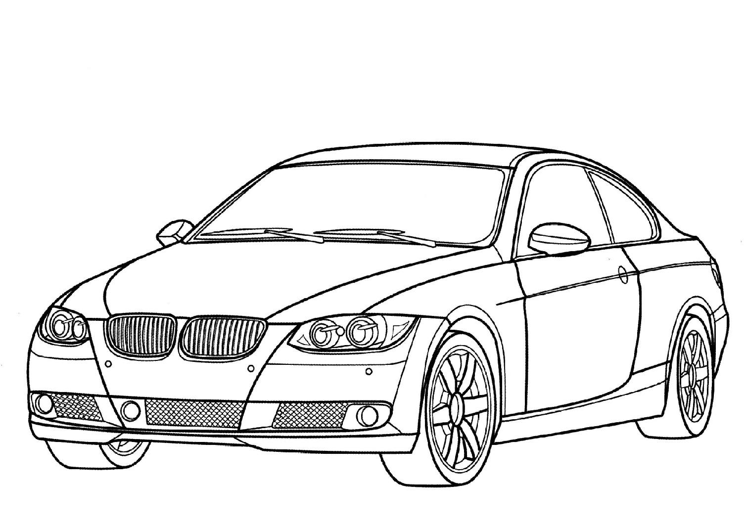 Coloriage voiture BMW à imprimer