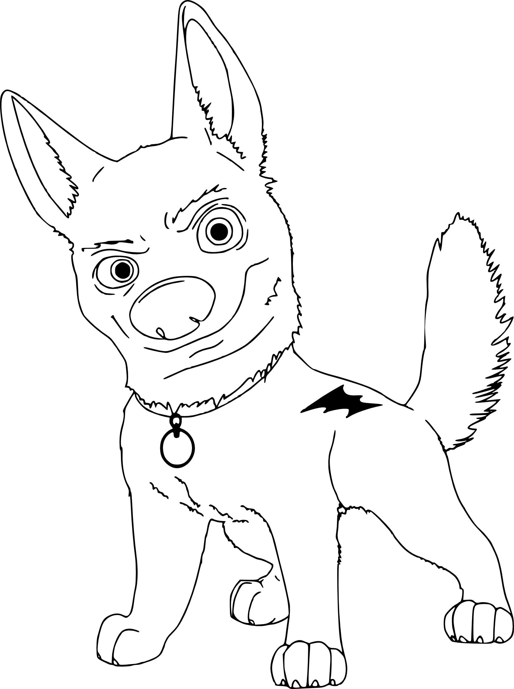 coloriage volt le chien