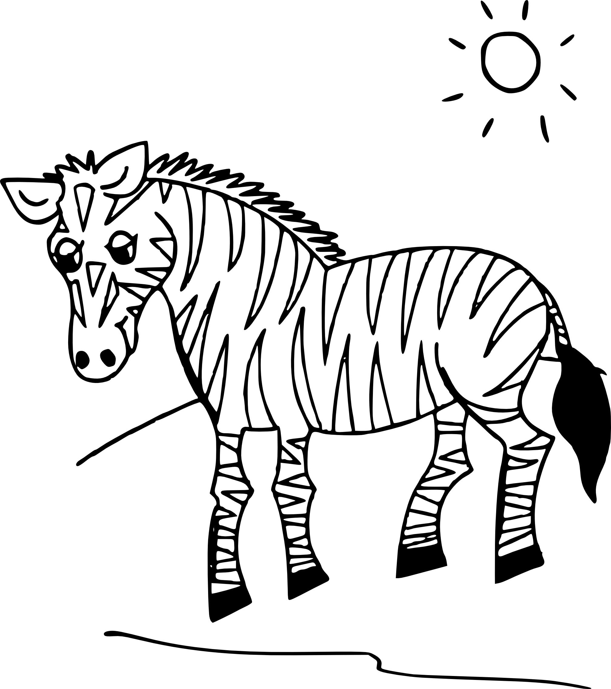Coloriage z bre imprimer - Coloriage zebre a imprimer ...